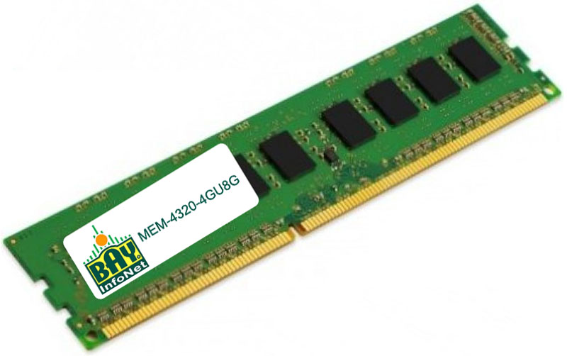 1x8GB MEM-4300-8G= 8GB Memory Module 3rd Party Upgrade For Cisco ISR 4300